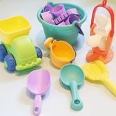 兒童沙灘玩具套裝寶寶洗澡戲水玩沙子挖沙漏決明子鏟子工具igo 范思蓮恩