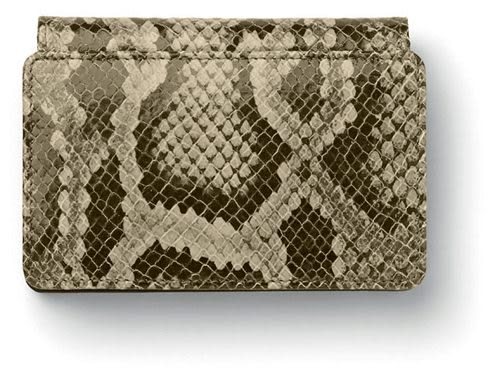Faber-castell 經典蛇紋皮名片夾 *188854