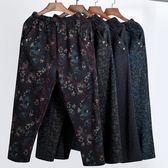 春夏新款媽媽褲子中老年女褲高腰寬鬆奶奶褲老年人60大碼長褲70歲