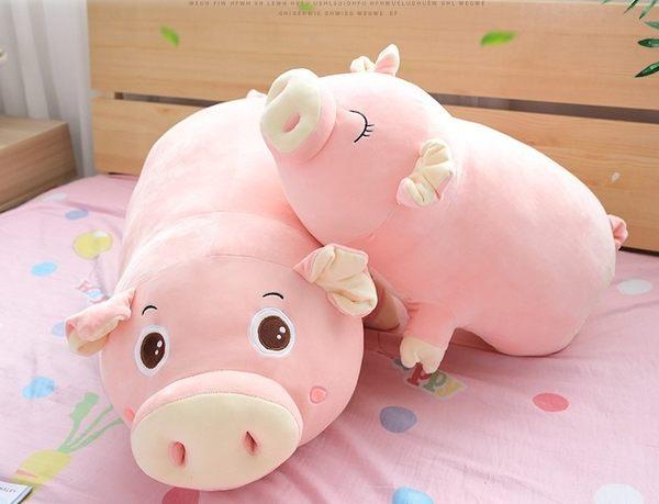 【110公分】大鼻孔小豬玩偶 仿真抱枕 絨毛娃娃 聖誕節交換禮物 生日禮物 辦公療癒小物 彌月送禮
