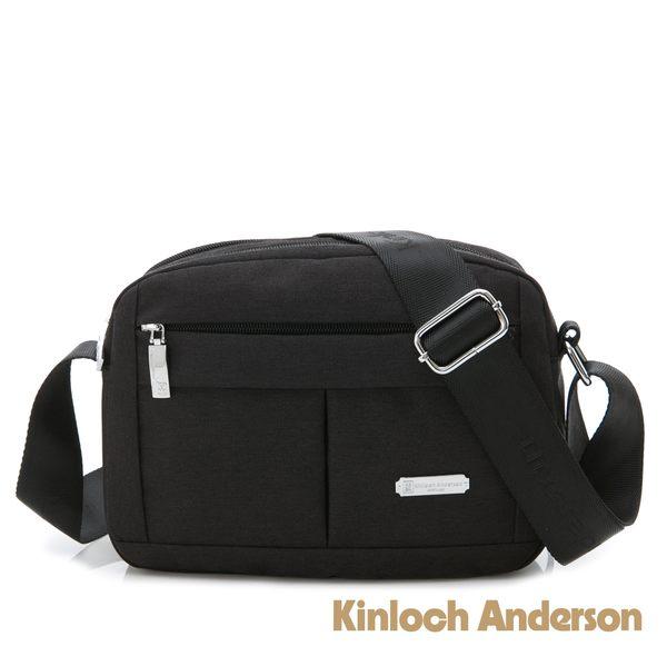金安德森  Simple 雙層拉鍊斜背包(中) 黑色