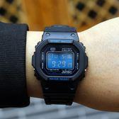 韓國ulzzang手錶 初中生復古數字式夜光男女學生多功能運動電子錶【限時八八折】