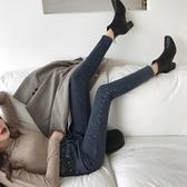 窄管褲 高腰牛仔褲女黑色褲子九分彈力小腳褲潮 美好生活居家館