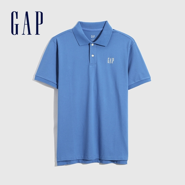 Gap男裝 Logo朱蒂網眼布POLO衫 897003-藍色