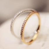 極簡鑲鑽造型戒指(#7號戒圍)    情人節禮物【Vogues唯格思】D059
