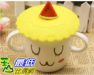 [107玉山最低比價網] 立體 蔬果 花卉 杯蓋 防塵 矽膠 軟膠 密封 保溫 杯蓋 款式隨機