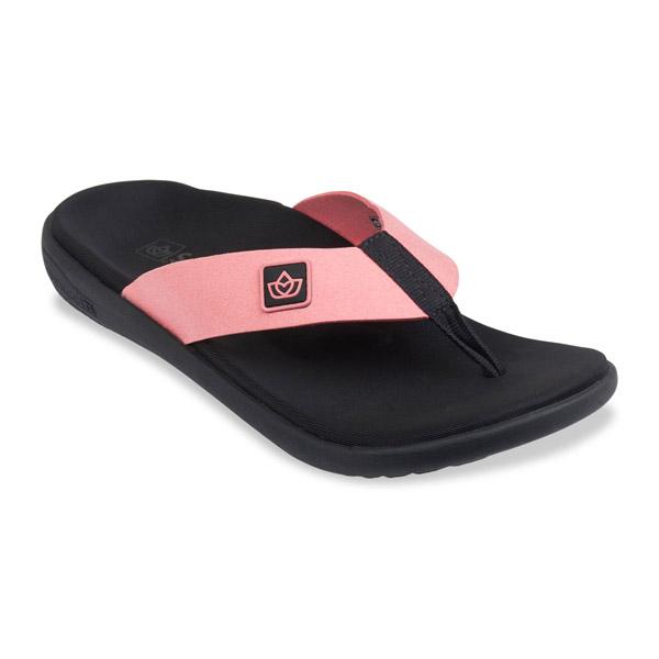 [Spenco] (女) PURE 能量回復拖鞋 - 桔黑 (SF39-950)