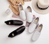 護士鞋 小白鞋夏季平底樂福鞋學生護士孕婦百搭韓版單鞋女 維多