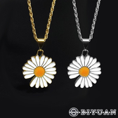 【OBIYUAN】雛菊項鍊 韓國時尚 花朵 飾品 共2色【YB0101】
