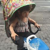 自行車兒童後置座椅 簡便電動車小孩後座圍欄嬰幼兒遮陽雨蓬棉棚igo    原本良品