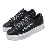 adidas 休閒鞋 Sleek Super W 黑白 三葉草 厚底 女鞋 【PUMP306】 EG7881 EG7881