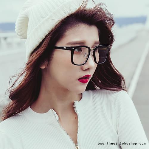 扁框好學生黑框眼鏡【AB121444Q1】THEGIRLWHO那女孩