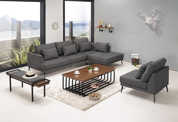 【森可家居】尼爾森L型沙發(正向) 8CM698-1 布 可拆洗
