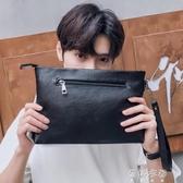 男士手包潮韓版時尚大容量個性手拿抓包休閒商務手提信封夾包 蓓娜衣都