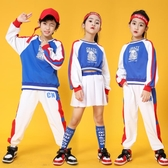 兒童啦啦操表演服秋冬學生純棉爵士舞服運動會班服拉拉隊演出服裝 童趣屋