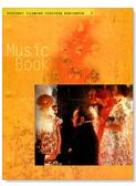 【小叮噹的店】台製 MS101 空白五線譜 大本音樂簿:美女與彈琴者(12行,橘底)近A4