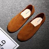 豆豆鞋夏季豆豆鞋男鞋休閒懶人鞋百搭輕便鞋男軟皮鞋子半拖男士單鞋 雲朵走走