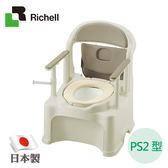 Richell利其爾-移動式舒適軟墊便座PY2型