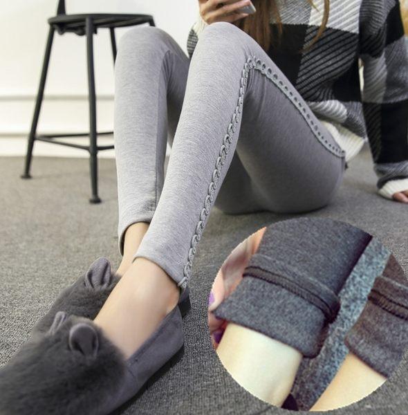 2017春季韓版孕婦打底裤 修身顯瘦蕾絲花邊孕婦托腹褲