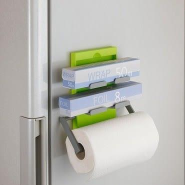 日本Belca磁吸式保鮮膜紙巾架-綠
