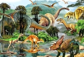 木質拼圖1000片成人拼圖減壓大型益智玩具恐龍世界【步行者戶外生活館】