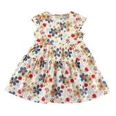 【愛的世界】純棉圓領花園鈕釦半袖洋裝/2~4歲-台灣製- ★春夏洋裝 涼夏推薦