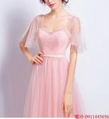 (45 Design)  7天到貨 新客製化顏色大尺碼訂做服7 婚紗禮服伴娘晚會主持人中長版蕾洋裝