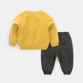 男童套裝 男童衣服衛衣套裝秋裝兒童女寶寶外出服運動兩件套小童Y4097