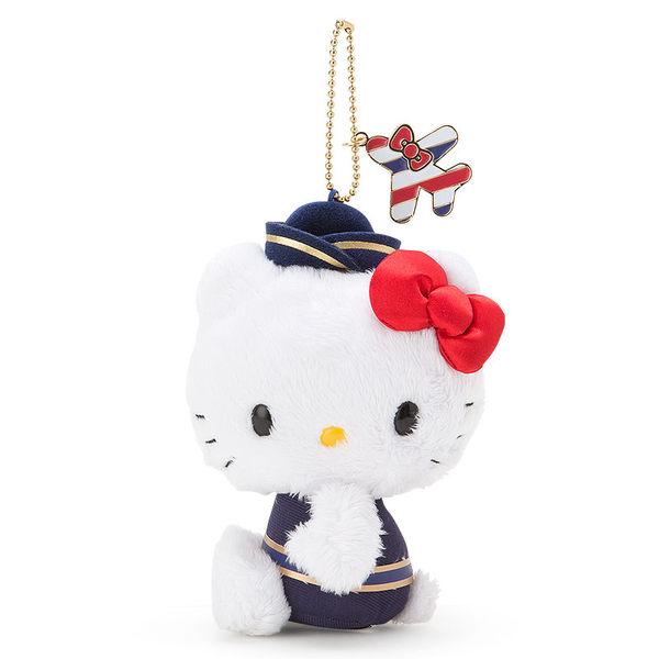 【震撼精品百貨】Hello Kitty 凱蒂貓~KITTY造型玩偶吊飾-飛機