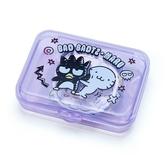 〔小禮堂〕酷企鵝 日製造型貼紙組附盒《紫.朋友》40枚入.裝飾貼.黏貼用品 4901610-03815
