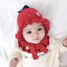 兒童保暖帽-嬰兒帽子秋冬女寶寶毛線可愛1-2歲加厚女童保暖兒童護耳6-12個月5  糖糖日系