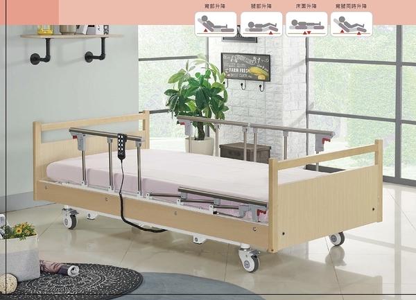 電動床/電動病床(鋼網結構)居家三馬達床 LM-UM33 極淺風格 木飾造型板 贈好禮