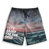 1111購物節-海灘褲 泳褲 印花沙灘褲速乾寬鬆海邊度假花短褲大褲衩