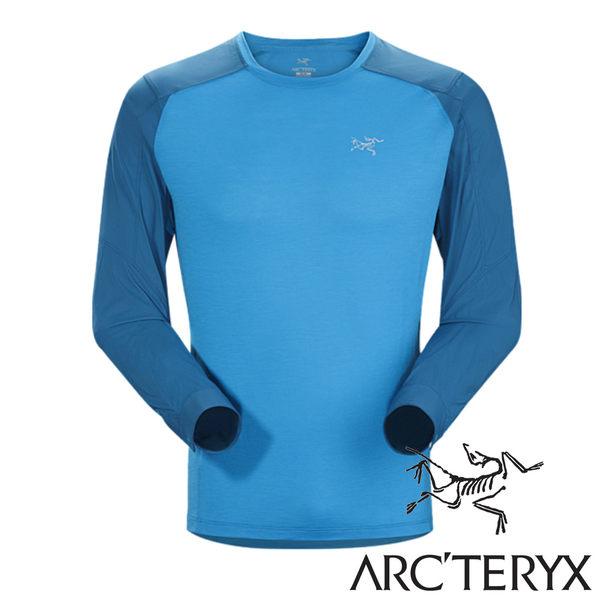 Arc'teryx 始祖鳥 Pelion男長袖排汗衣 混紡美麗諾羊毛『亞得里亞海藍』 17126