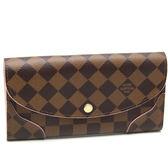 Louis Vuitton LV N61227 CAISSA 新棋盤菱格紋扣式長夾.粉紅 全新 預購【茱麗葉精品】