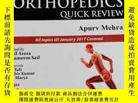 二手書博民逛書店Orthopedics罕見quick review aqurv