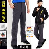 軟殼褲-防風杜邦防潑水彈性輕量加厚內絨禦寒機能褲(HMP007 銷光灰)【德國-戶外趣】