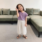 女童T恤女童短袖t恤薄款透氣新款潮兒童夏季小飛袖背心上衣【快速出貨八折下殺】