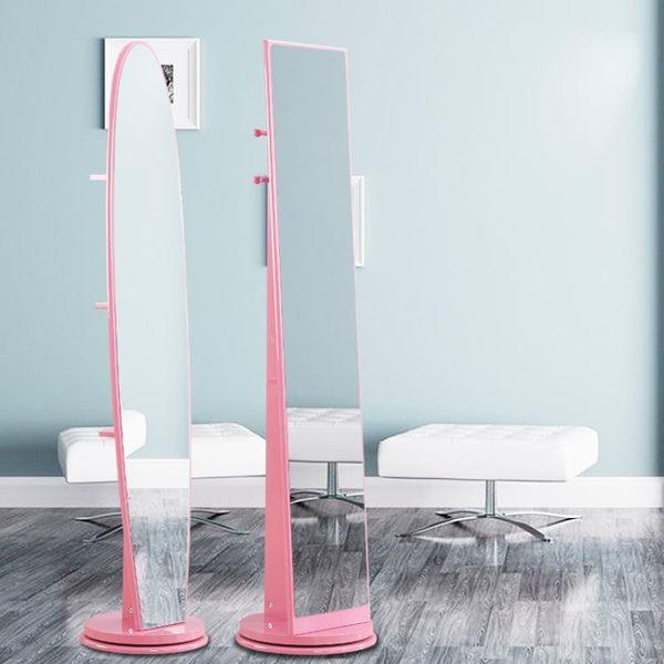現代簡約全身鏡落地鏡臥室立體鏡子移動旋轉穿衣鏡客廳家用試衣鏡【一條街】