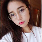 現貨-韓版ulzzang時尚百搭平光鏡眼鏡韓版潮金屬圓形平光鏡架復古女眼鏡框男款眼鏡架鏡框眼睛168