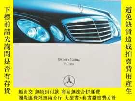 二手書博民逛書店Mercedes-Benz--Owner s罕見Manual E