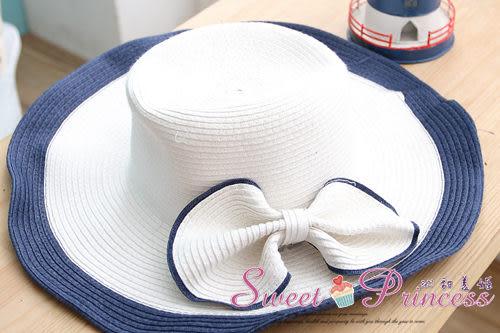 泳衣配件   雙色蝴蝶編織帽 - 盛夏出遊必備小物(白)  -沁甜美姬