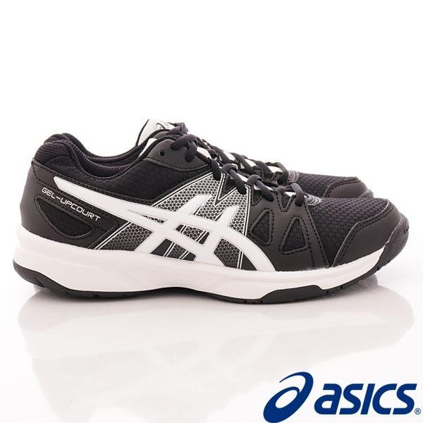 【ASICS】運動童鞋-流線透氣黑運動款-413N-9001(中大童)
