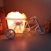 【鹽夢工場】創意造型鹽燈-小三輪車(粉)