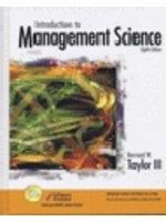 二手書博民逛書店 《Introduction to Management Science and Student CD Package》 R2Y ISBN:013122932X│Taylor著
