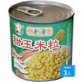 飯友甜玉米粒340g*3罐【愛買】