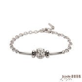 J'code真愛密碼 守護愛情 純銀/白鋼手鍊