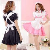 (萬聖節)粉紅女仆女傭裝 餐廳咖啡廳黑白女仆服漫展動漫cosplay演出裝