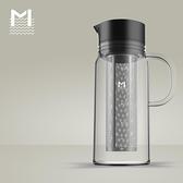 咖啡壺 冷泡冰滴咖啡壺 過濾杯冷萃茶壺 過濾網雙層