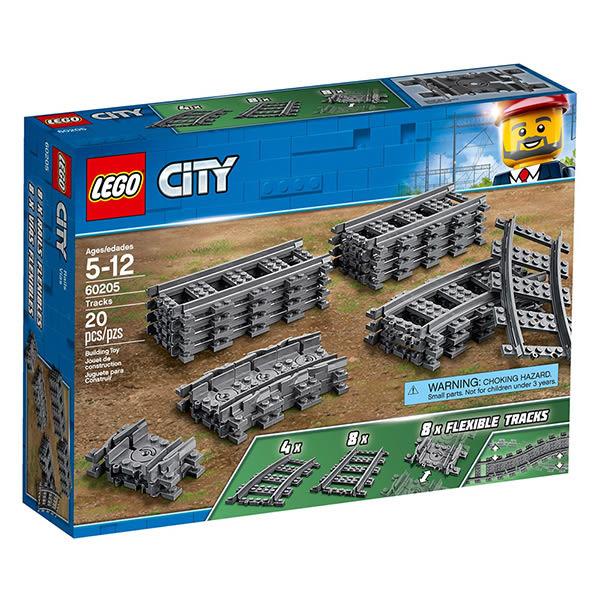 樂高積木LEGO 城市系列 60205 軌道和彎道